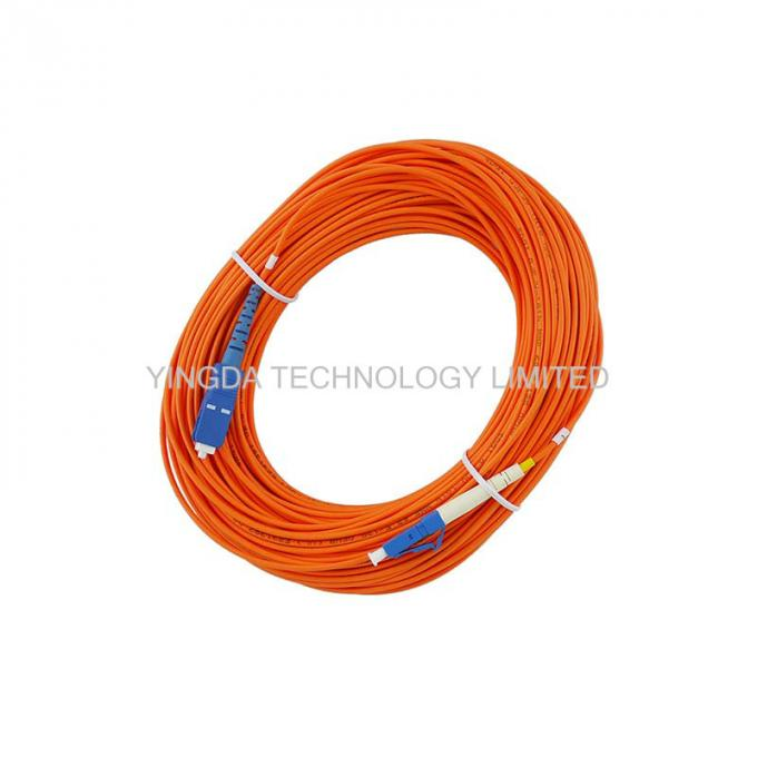 LC to SC Fiber Optic Patch Cord MM50 / 125um OM2 Mulitmode PVC LSZH Patch Cable