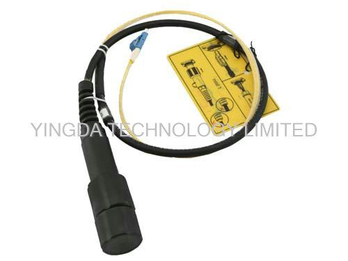 PDLC / DLC GYFJH 4 Core Fiber Optic Patch Cord LC Outdoor Use