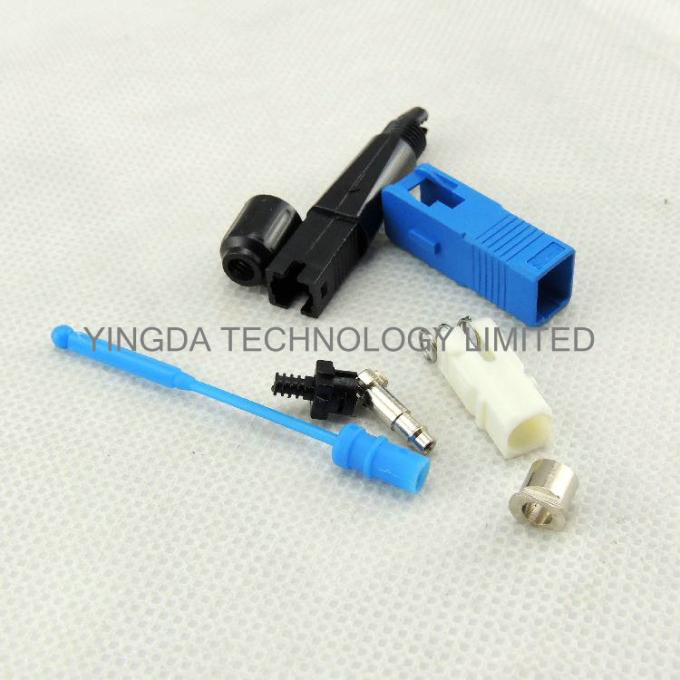 FTTH Mechanical SC / UPC Fiber Optic Fast Connector On Site Single Mode