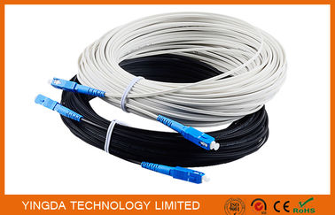 Outdoor Fiber Optic Patch Cord FTTH Network Patch Cable 1 Core SC / UPC - SC / UPC 40M