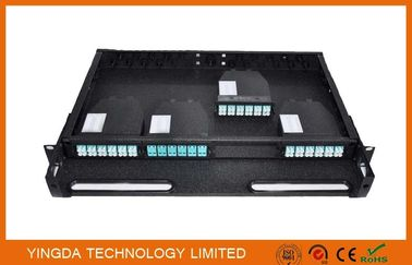 96 Cores 1U MPO Patch Panel / Enclosures 4 bays wide 24 LC ports3 MPO APC (x8) input SMF