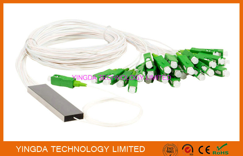 FTTH 1x32 Mini PLC Splitter Single mode Steel Tube LC APC Connectors تامین کننده