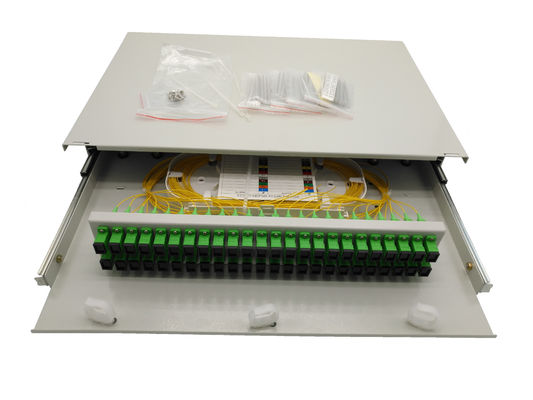 Indoor Metal Slide 2U 48 Port Patch Panel Rack Mount